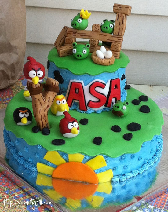 angrybirdscake