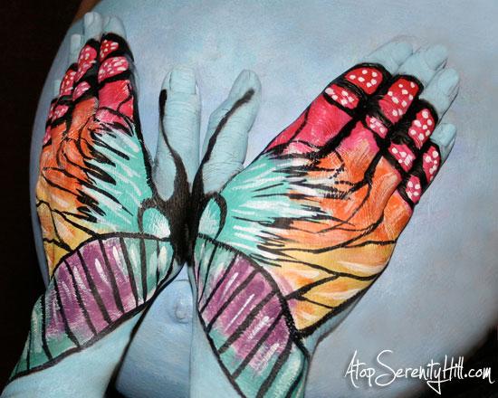 butterflyhandsbellybump