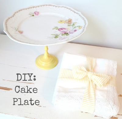 DIY cake plate 12