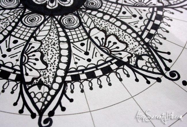 a peek inside  my sketchbook   mandalas