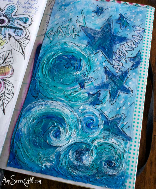 Documented Life Project weekly challenge art journal • AtopSerenityHill.com #doodling #artjournaling #documentedlife