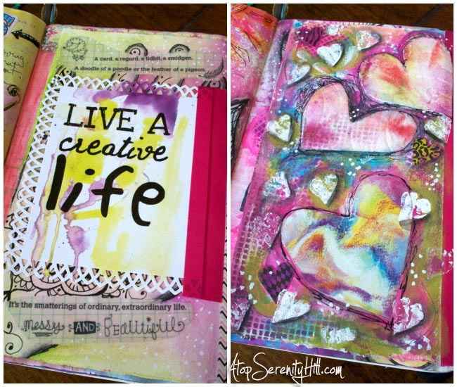 Documented Life Project weekly challenge art journal • AtopSerenityHill.com #artjournaling #doodling #documentedlife