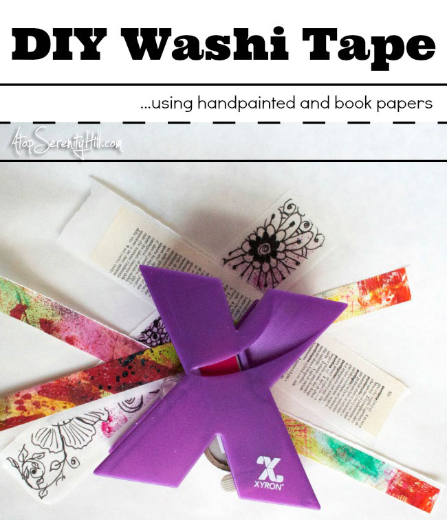 DIY Washi tape out of your own handpainted deli and tracing paper! • AtopSerenityHill.com #washitape #handpainting #stickers