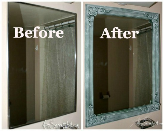 Update to mirror of old medicine cabinet • AtopSerenityHill.com
