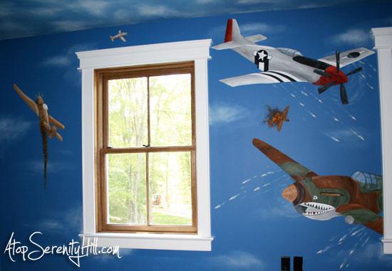 fighterplanemural