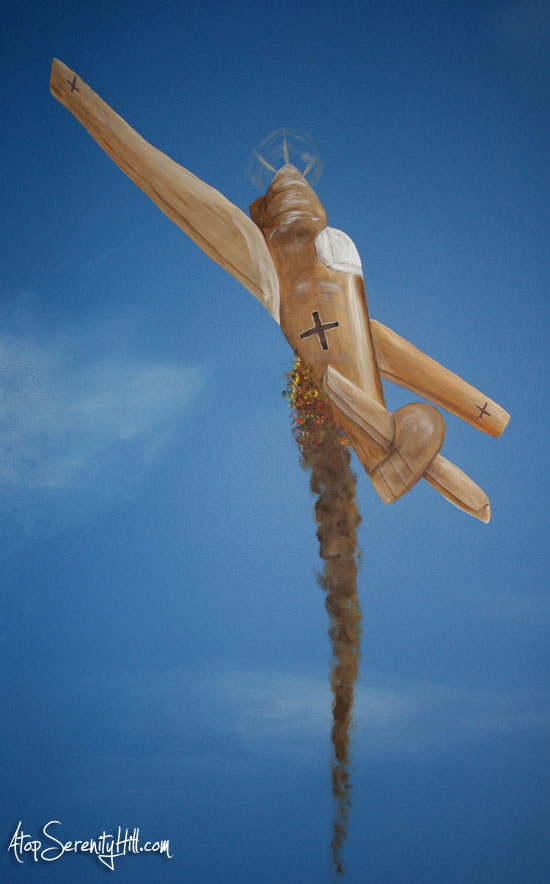 ww11fighterplaneonfire