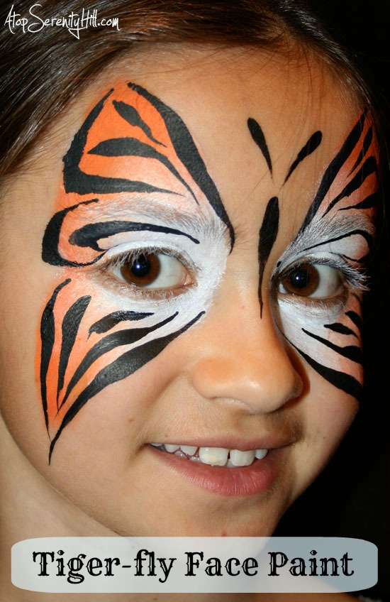 Butterfly Face Paint Alternatives For Boys Atop Serenity Hill