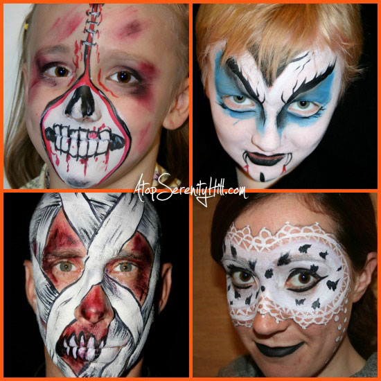 halloweenfacepaint2Collage