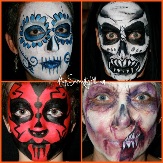 halloweenfacepaint3Collage