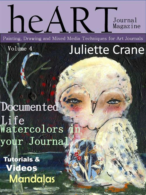 heART Journal Magazine Issue #4 • mandala tutorial by AtopSerenityHill.com