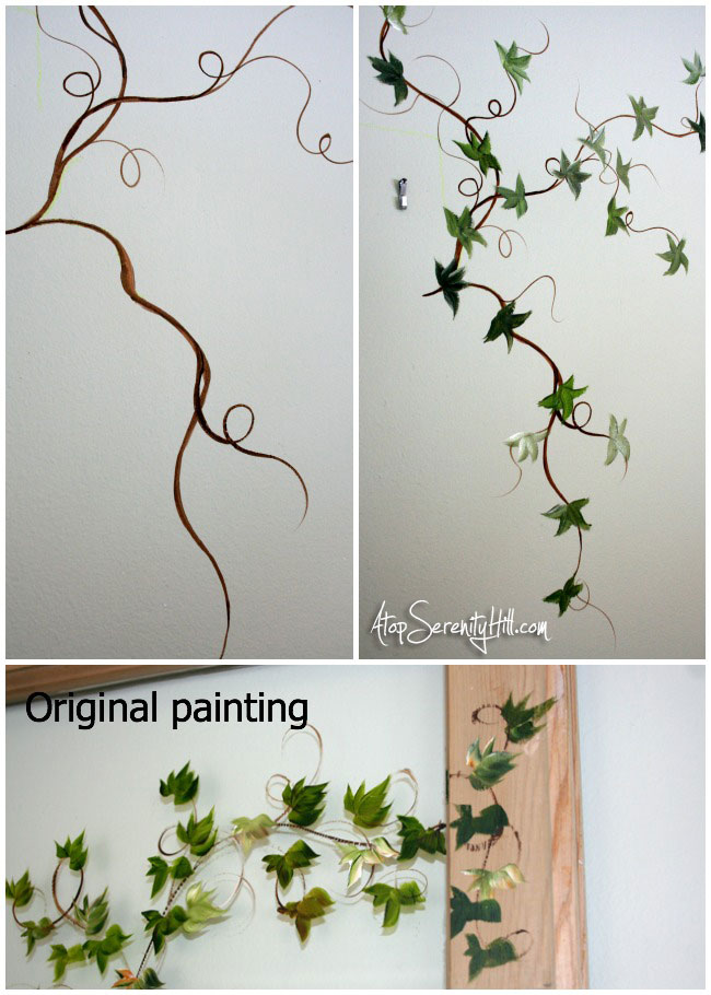 Easily add mural elements to extend a framed painting • AtopSerenityHill.com