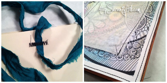3 uses for a junque journal; video flip through • AtopSerenityHill.com #junquejournal #artjournal #mixed media