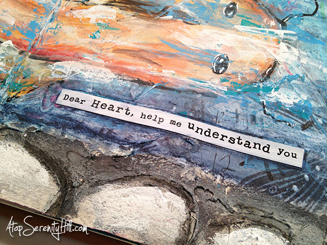 A time-lapsed video look into the process of making an art journal page for the Documented Life Project 2015, week 5 • AtopSerenityHill.com #documentedlifeproject #artjournal #mixedmedia