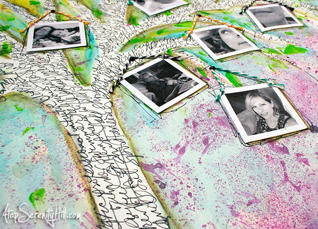 Documented Life Project art journal page using selfies • AtopSerenityHill.com #mixedmedia #artjournal #documentedlifeproject